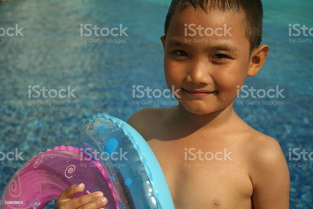Spaß am pool (Serie Lizenzfreies stock-foto
