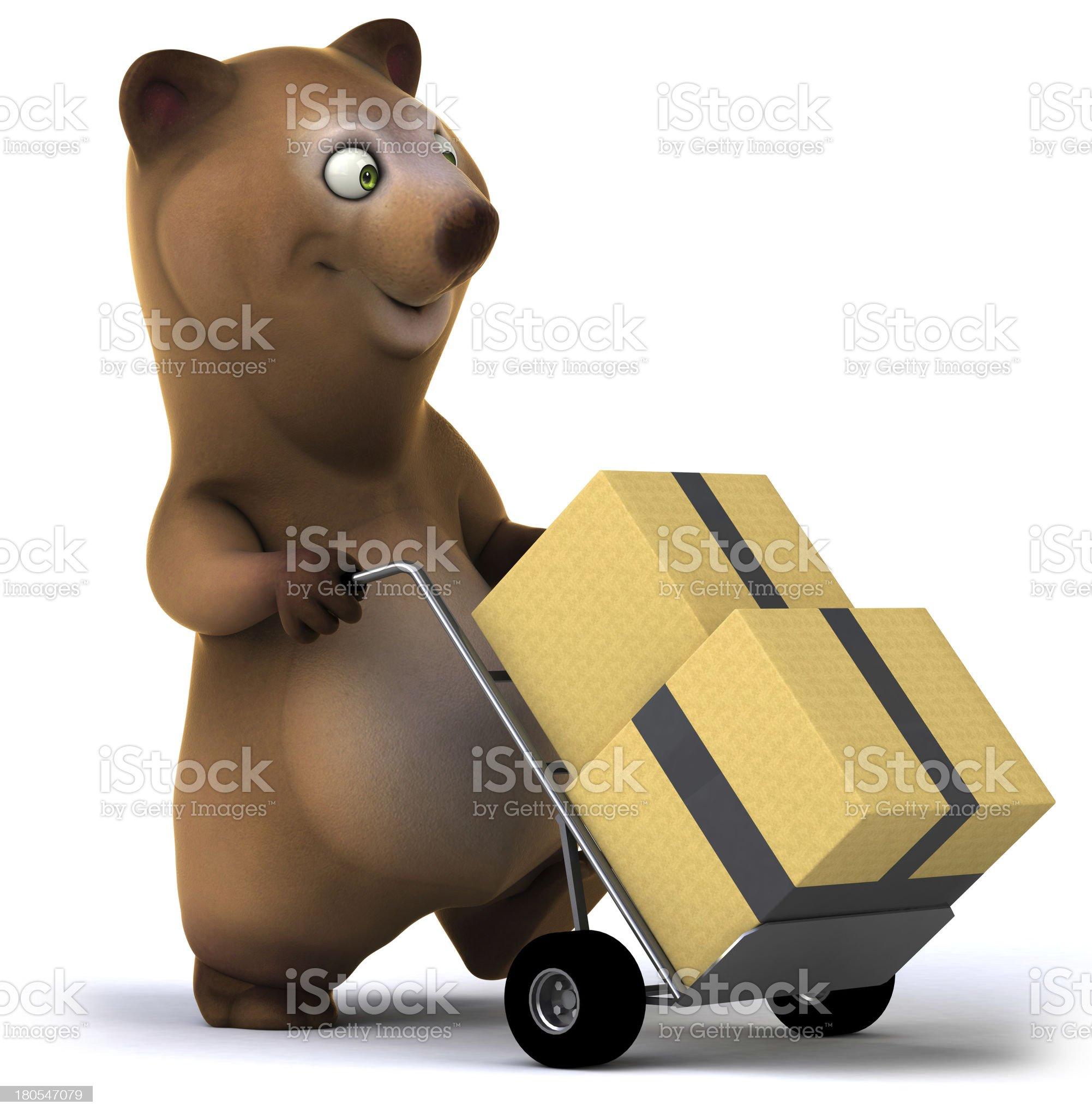 Fun bear royalty-free stock photo