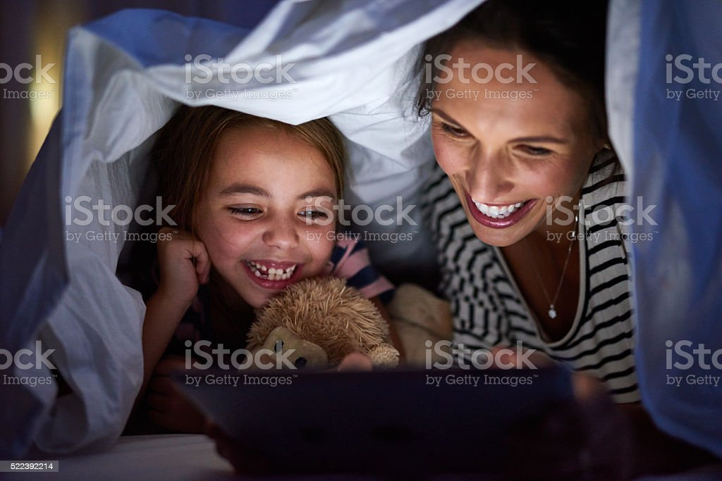 Fun bedtime rituals that are anything but boring stock photo