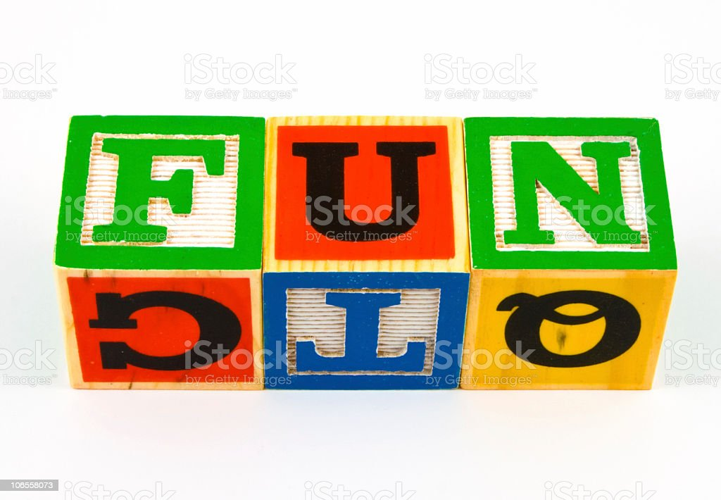 Fun Block Letters royalty-free stock photo