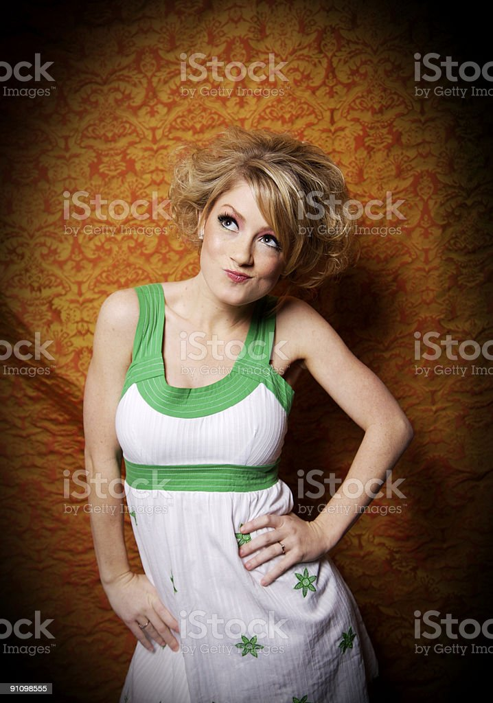fun blonde female portraits royalty-free stock photo