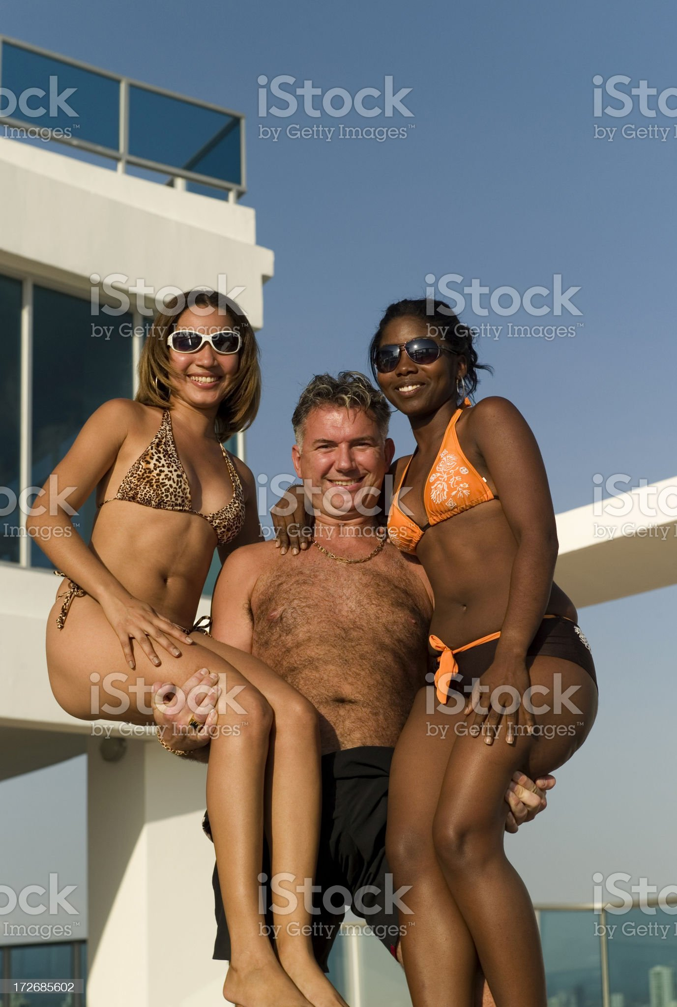 Fun by the Pool royalty-free stock photo