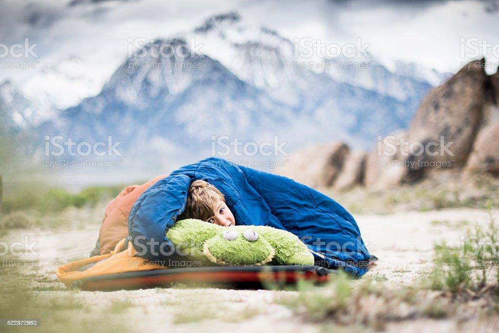 fun camping stock photo