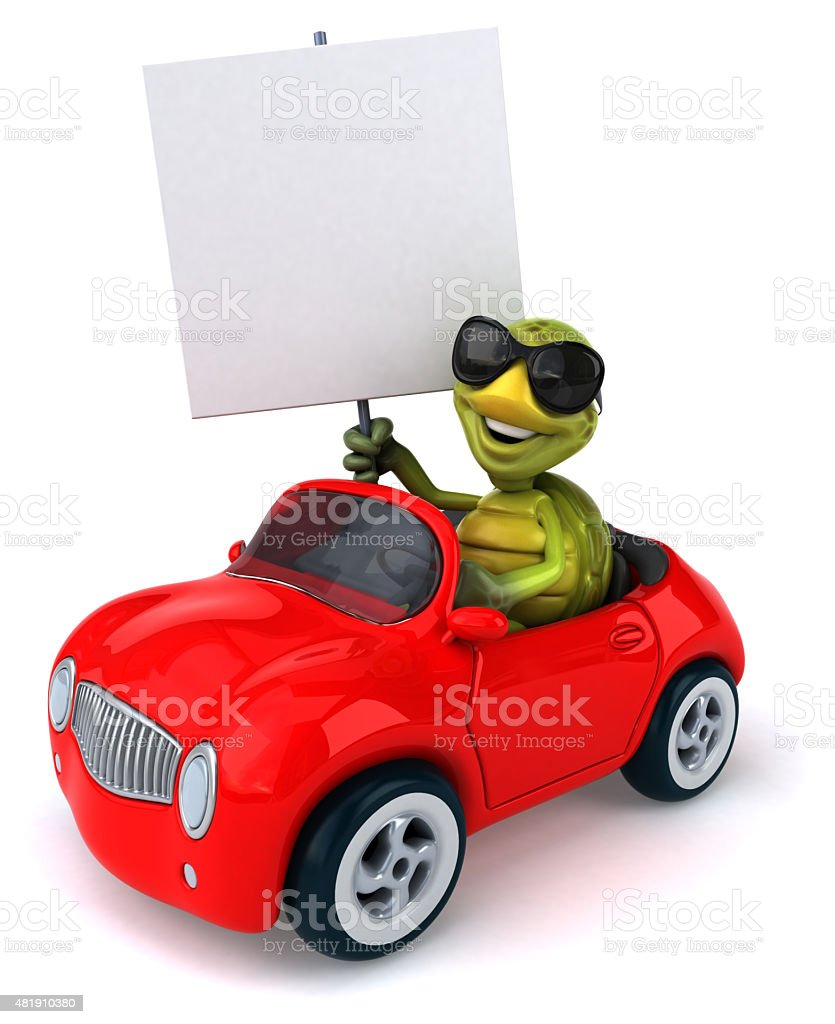 Fun car stock photo