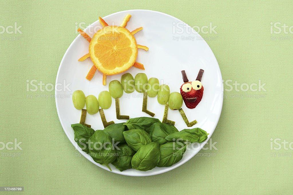 Fun children's food stock photo