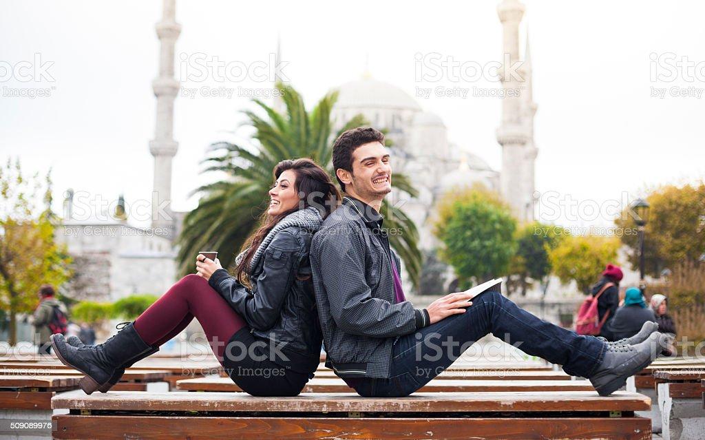 Fun City Break Near Istanbul's Famous Landmark stock photo