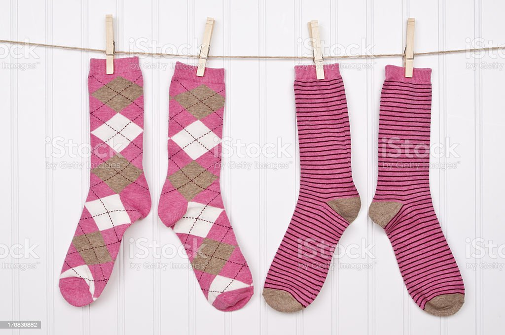 Fun Clothing on a Clothesline stock photo