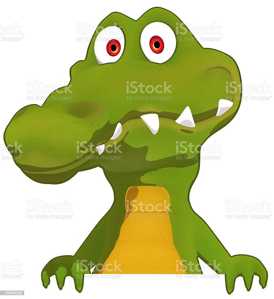 Fun crocodile royalty-free stock photo