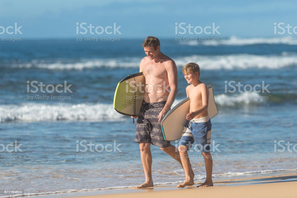 Fun day at the beach! stock photo