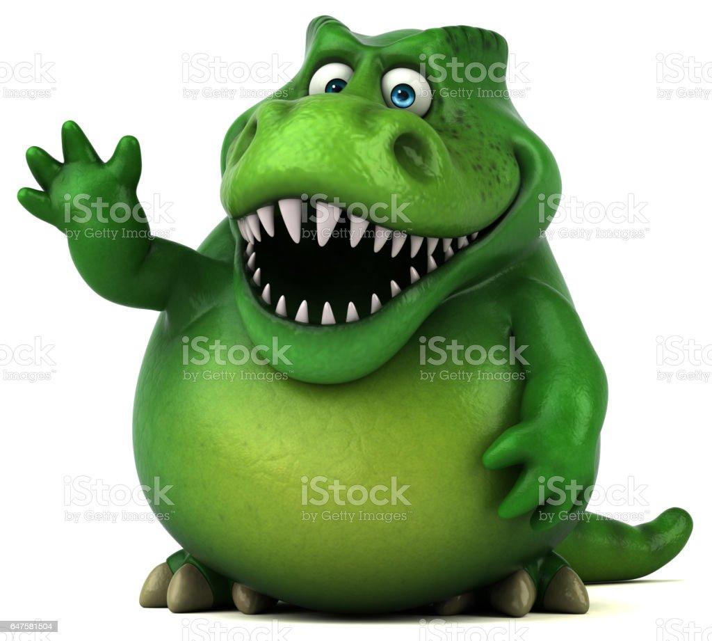 Fun dinosaur - 3D Illustration vector art illustration