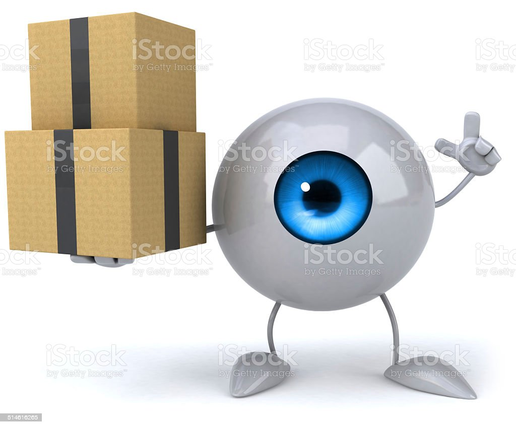Fun eye stock photo