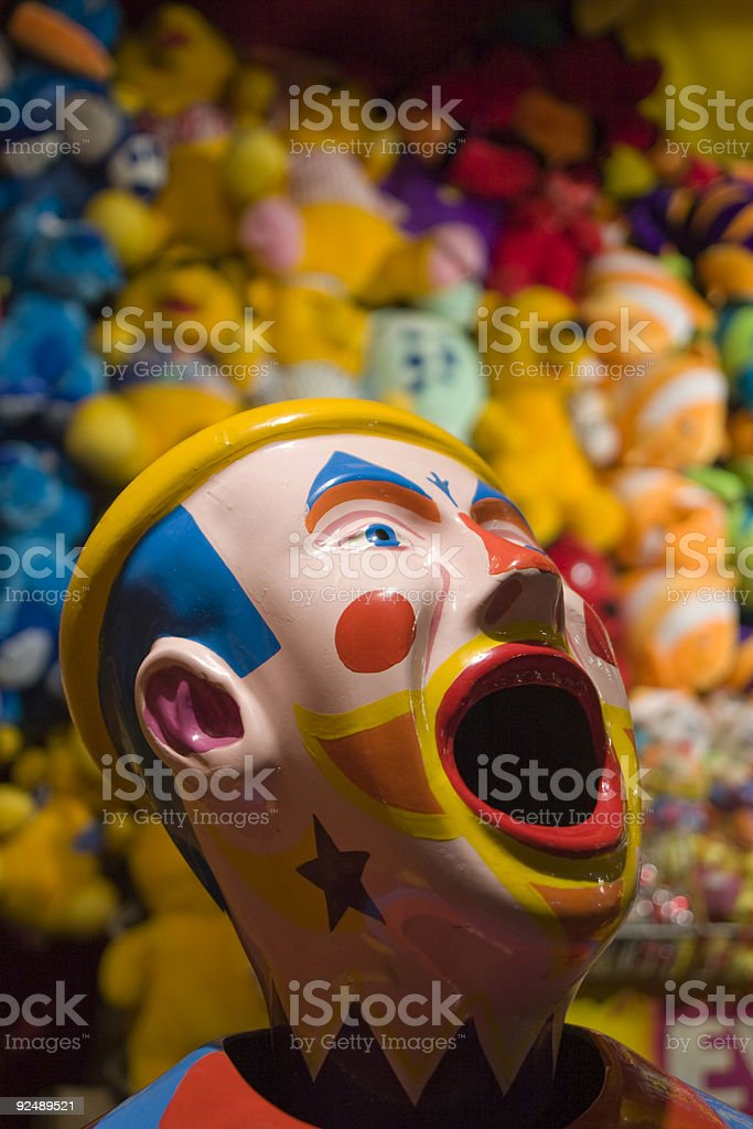 Fun fair game, laughing clown royalty-free stock photo