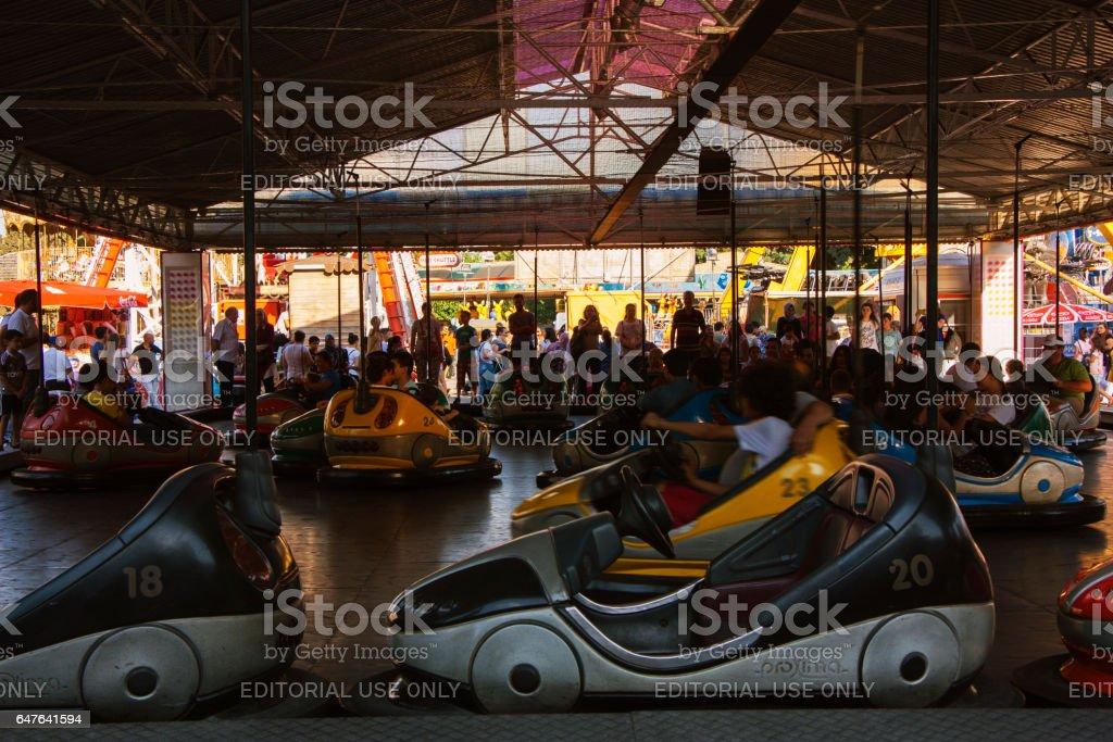 Fun fair in Izmir stock photo