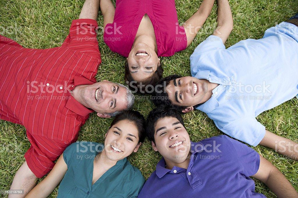 Fun family royalty-free stock photo