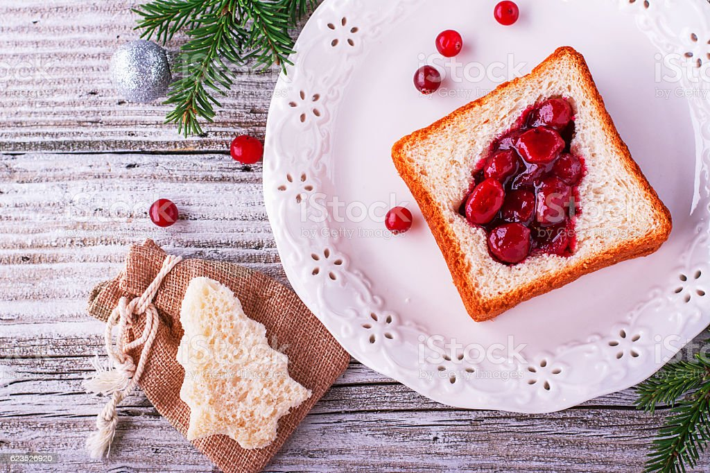 Fun food for kids and adults to toast  the festive stock photo