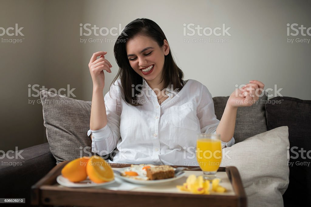 Fun for start of the day stock photo