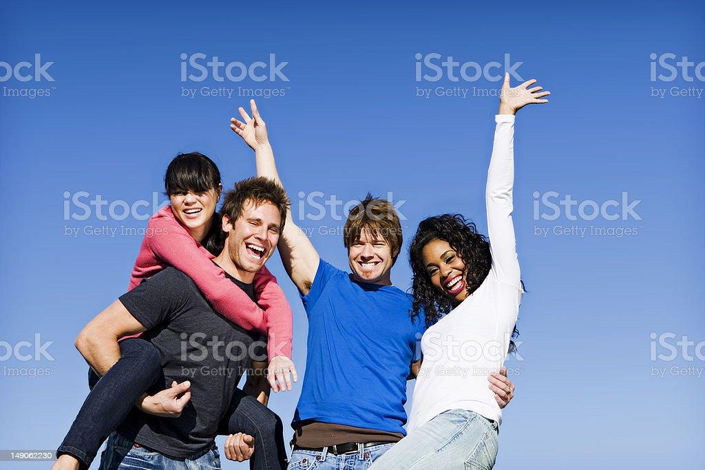Diversión de amigos foto de stock libre de derechos