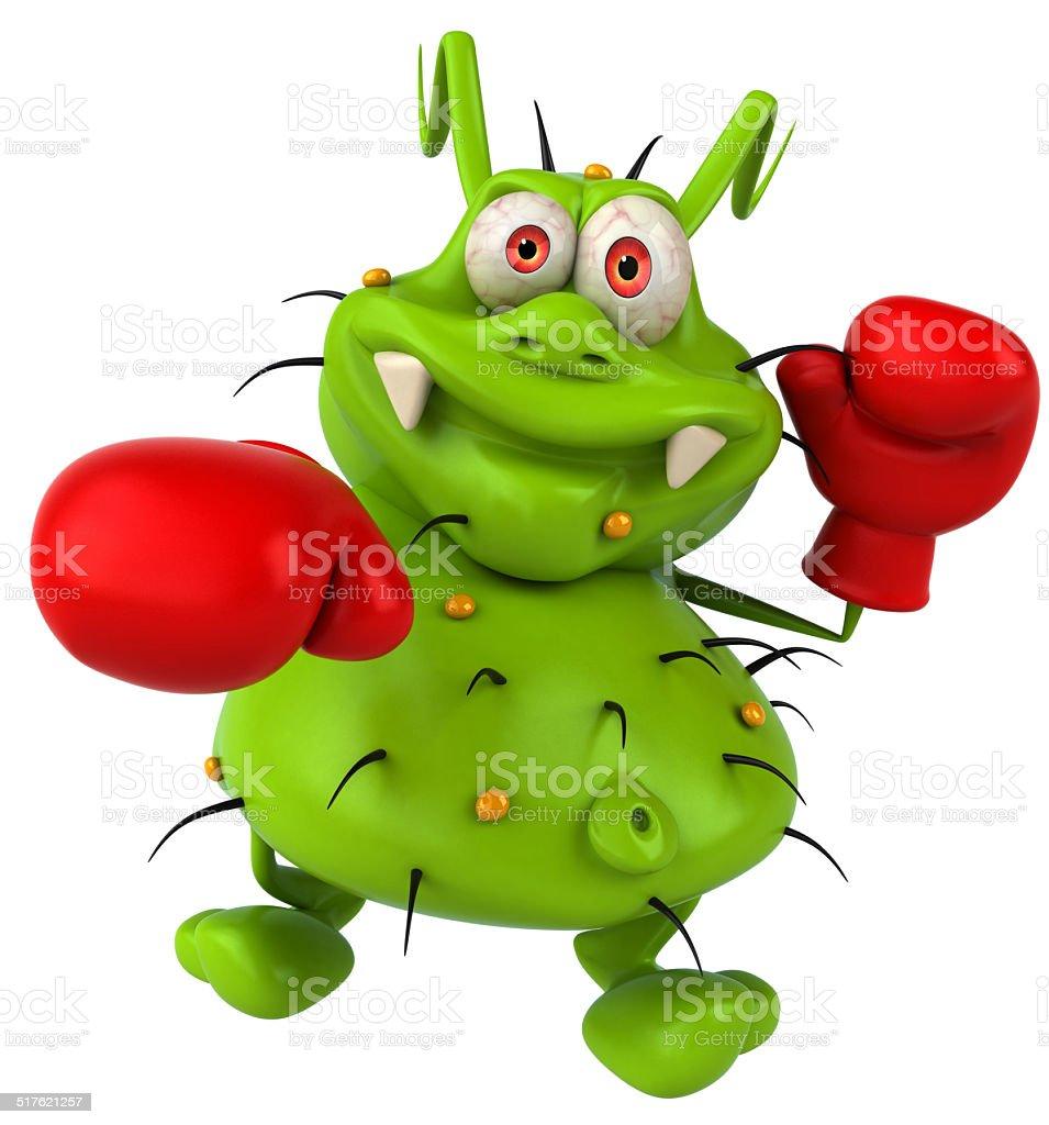 Fun germ monster stock photo