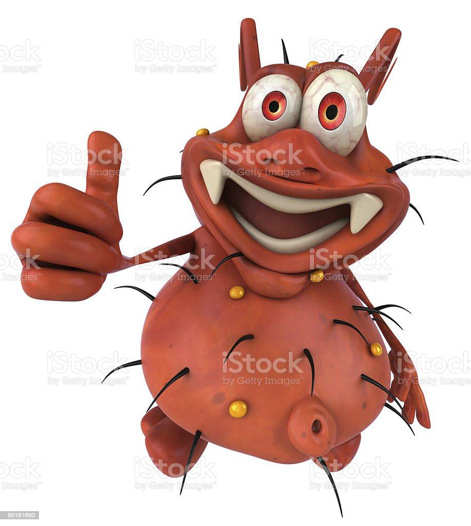 Fun germ monster royalty-free stock photo