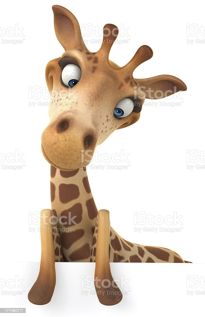 Fun giraffe royalty-free stock photo