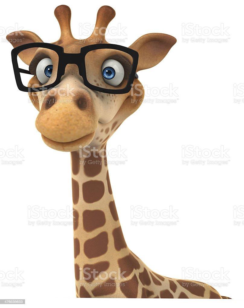Fun giraffe royalty-free stock photo