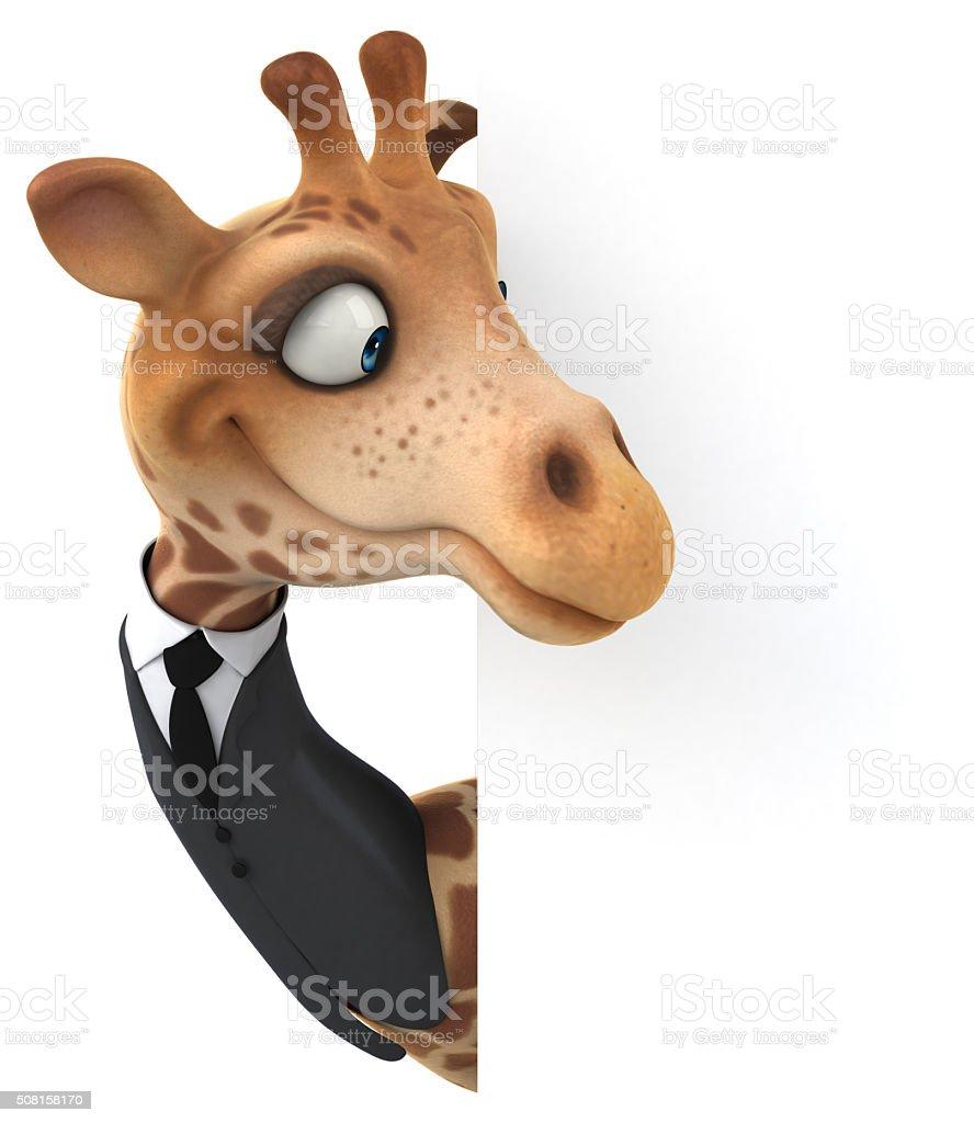 Fun giraffe stock photo