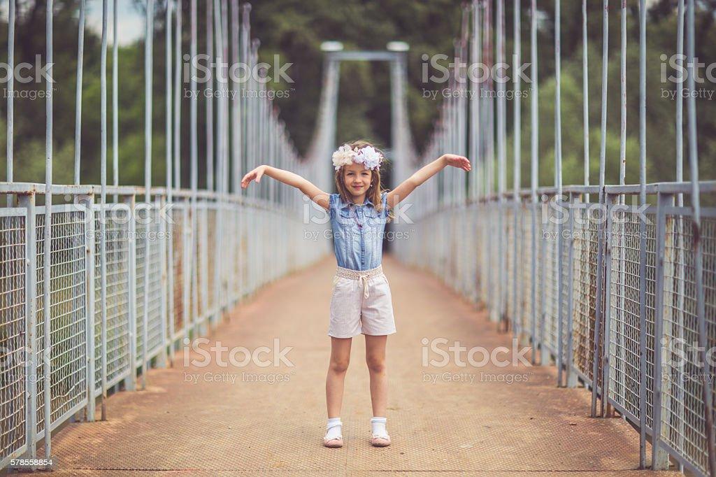 Fun girl stock photo
