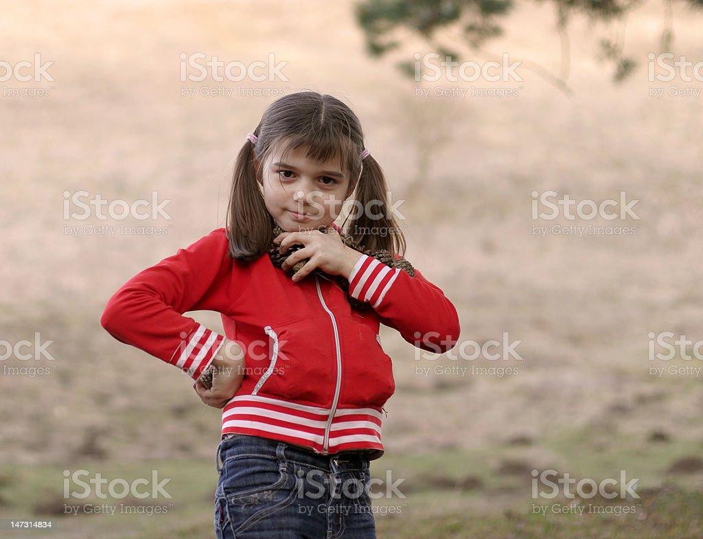 fun girl with kingpins royalty-free stock photo