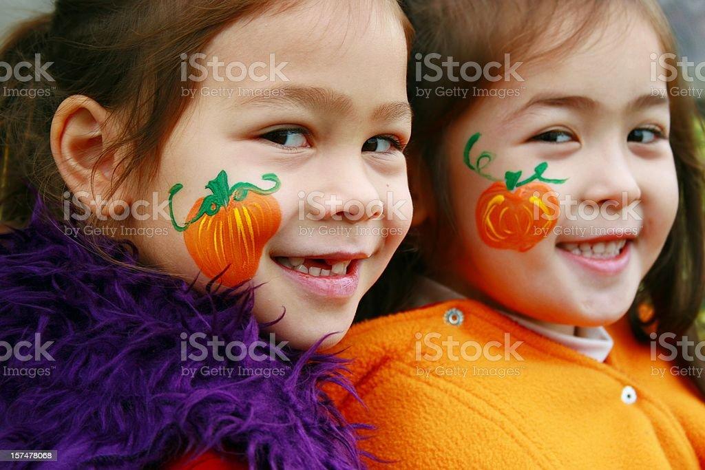 Fun Halloween Faces royalty-free stock photo