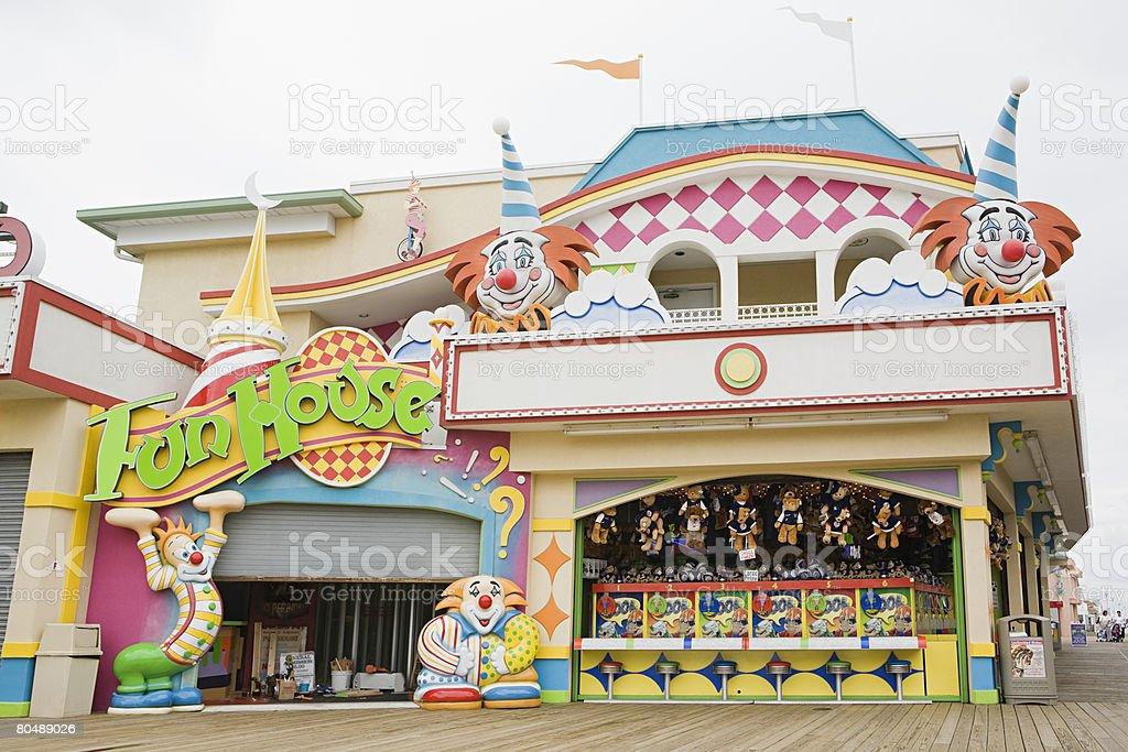 Fun house stock photo
