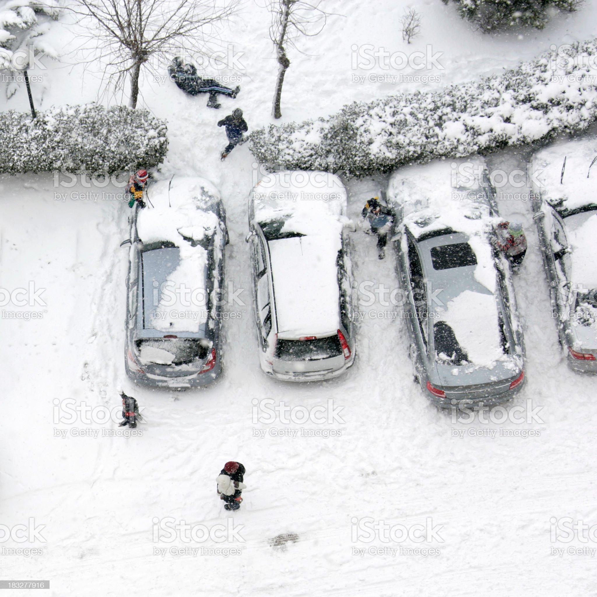 fun in snow royalty-free stock photo