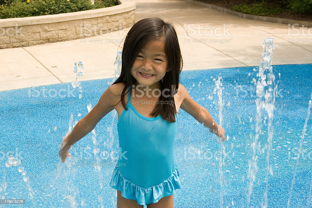 Fun in the Fountain royalty-free stock photo