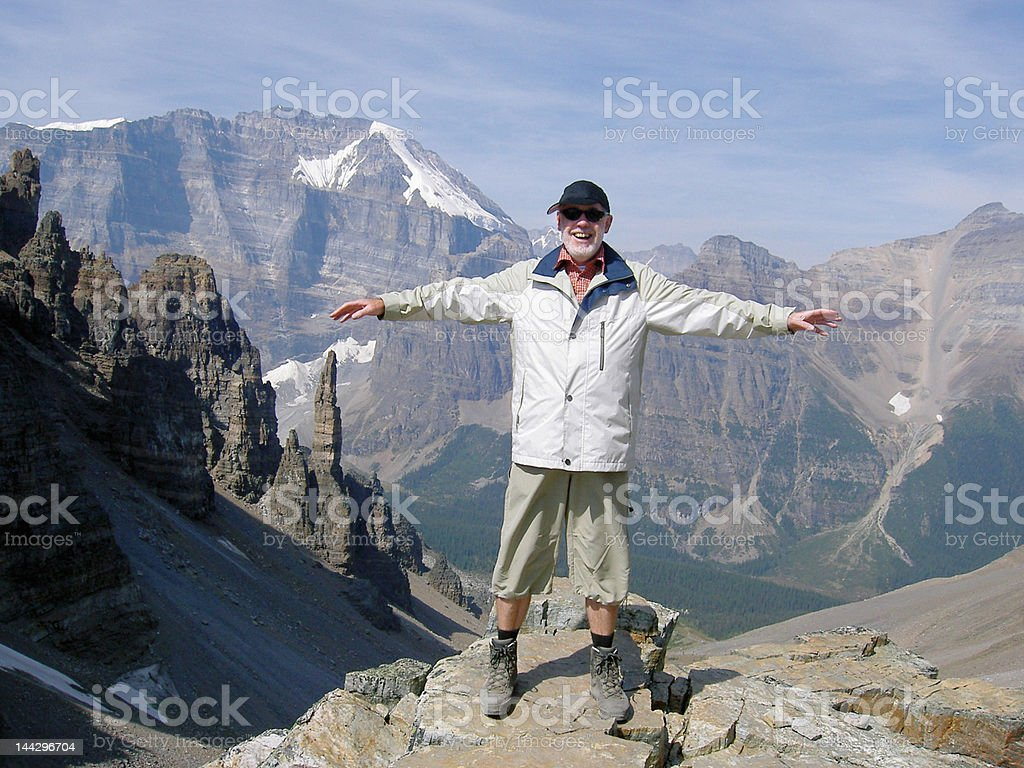 Fun in the mountains stock photo