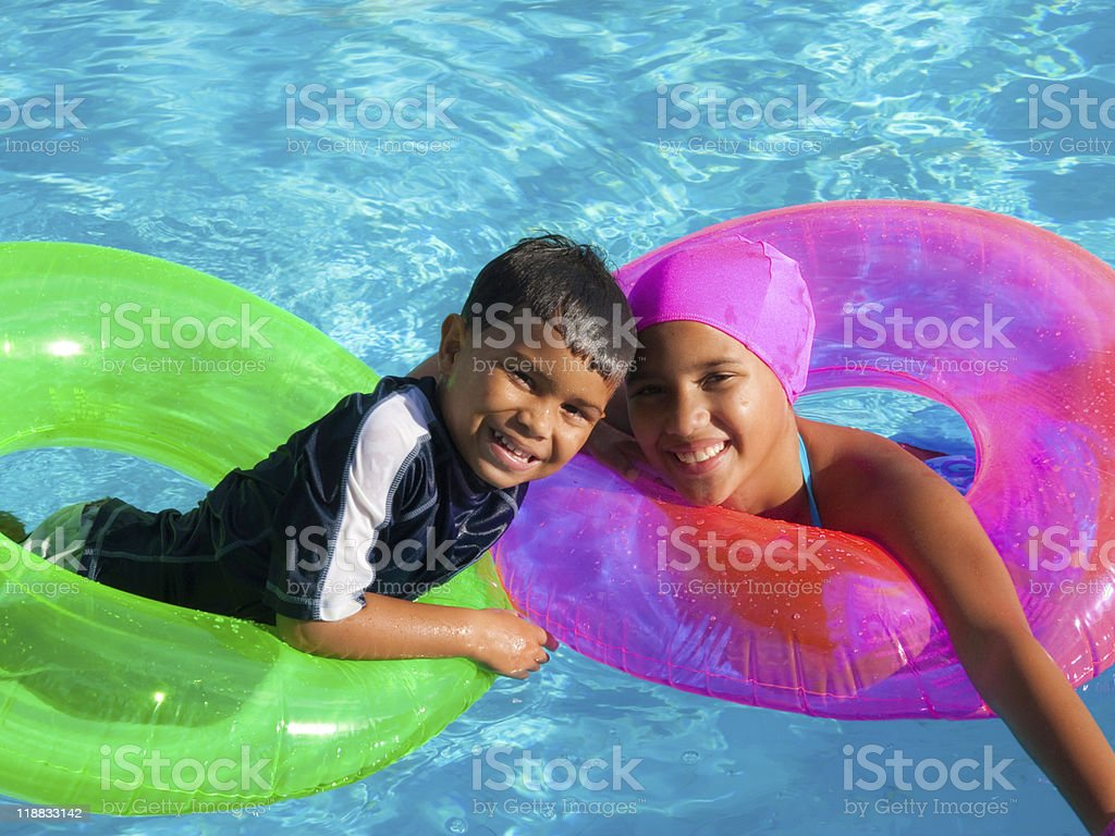 Fun in the pool royalty-free stock photo