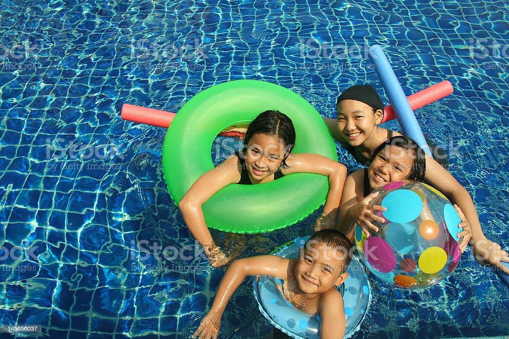 Fun in the pool (series) royalty-free stock photo