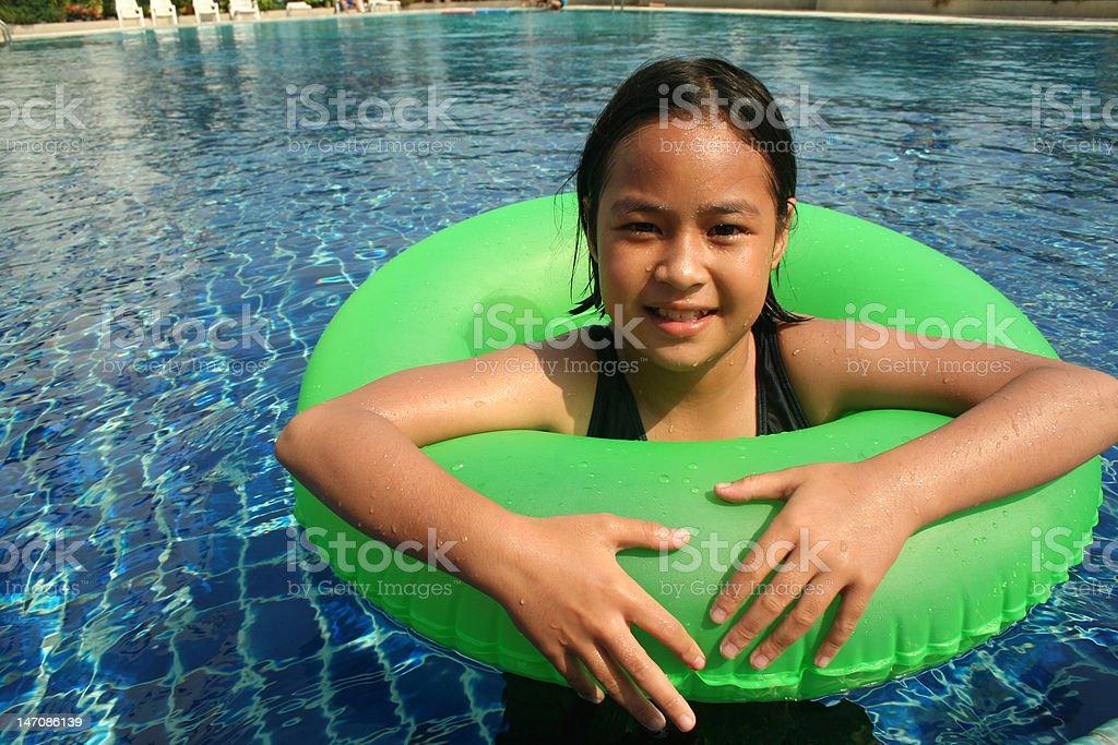 Spaß im pool Lizenzfreies stock-foto