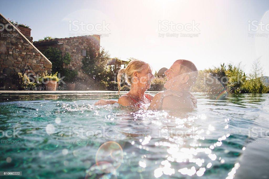 Fun in the Pool stock photo