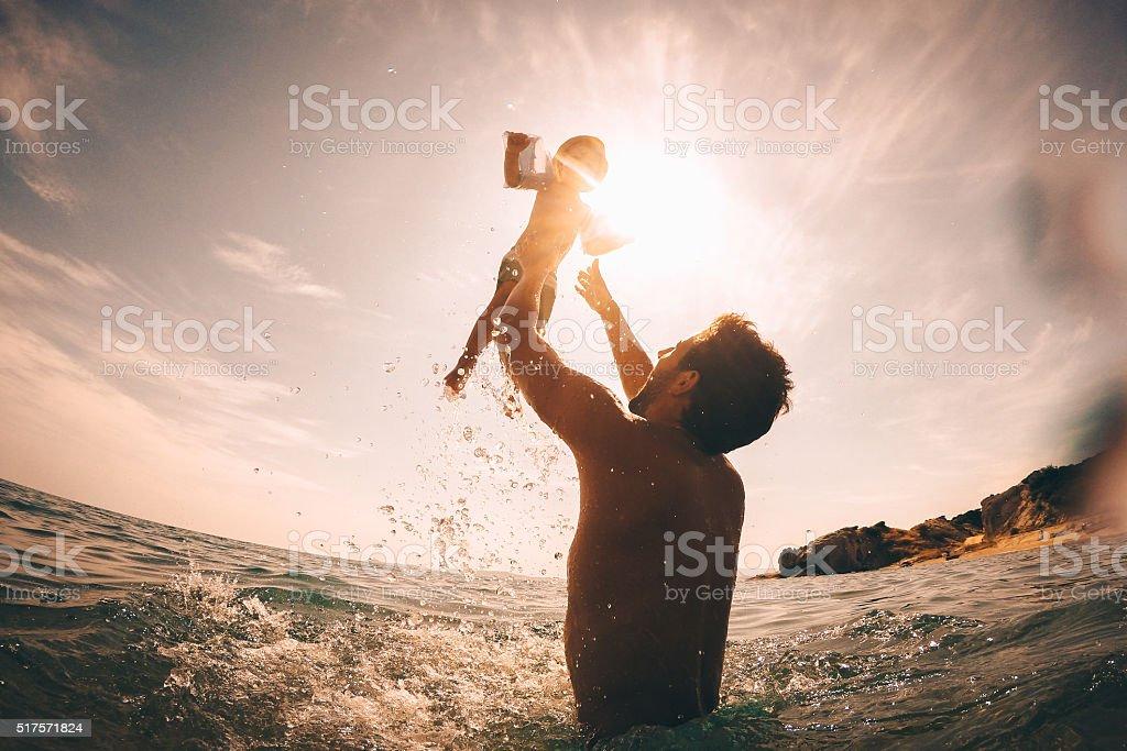 Fun in the sea stock photo