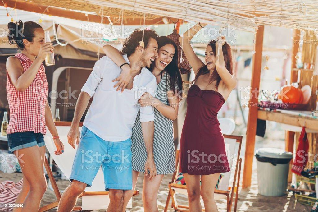 Fun in the summer camp stock photo