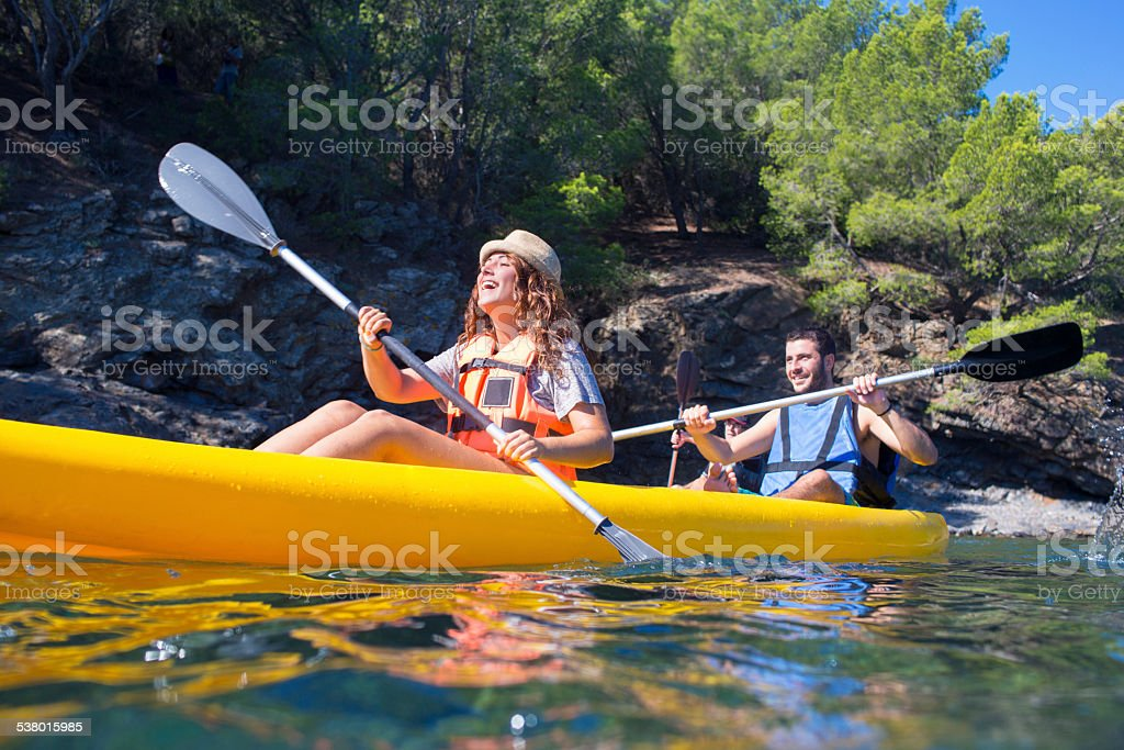 Fun in the summer holidays. stock photo