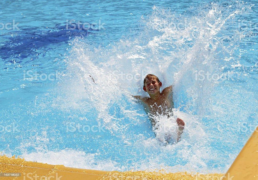 Fun in water royalty-free stock photo