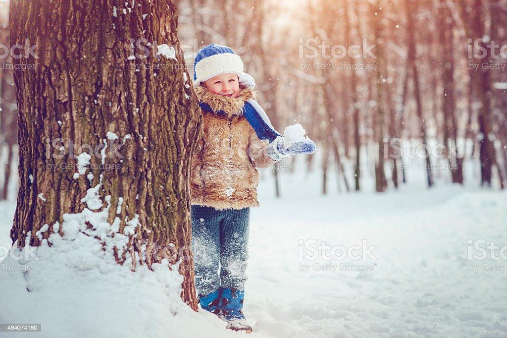 Fun in winter stock photo