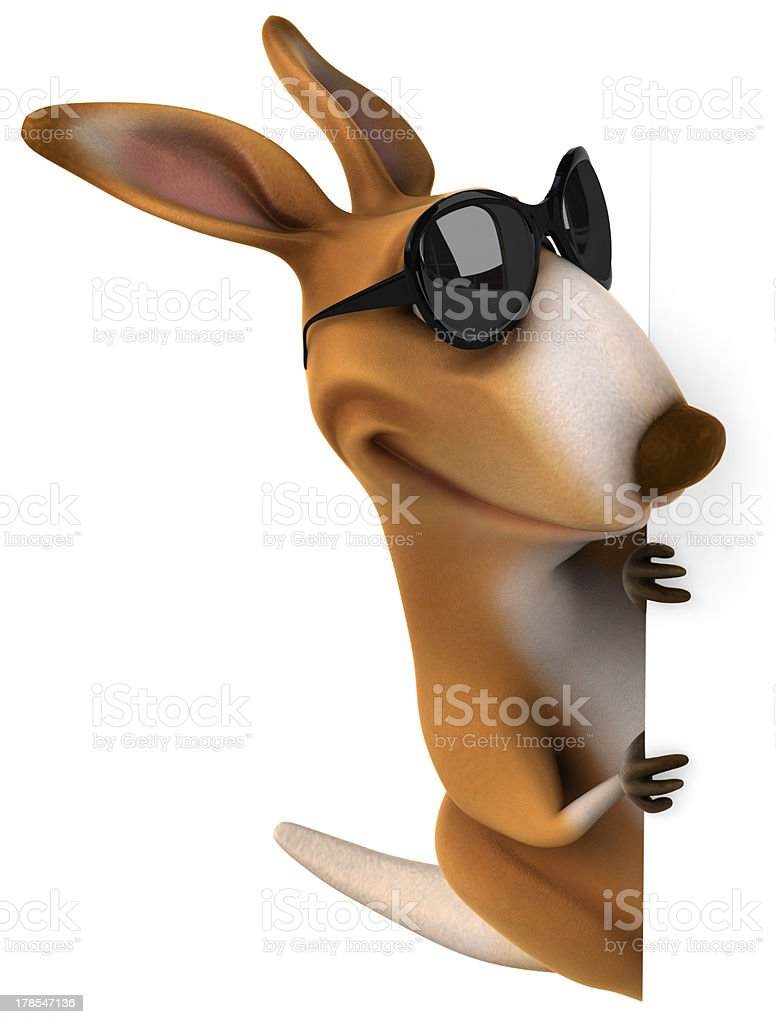 Fun kangaroo royalty-free stock photo