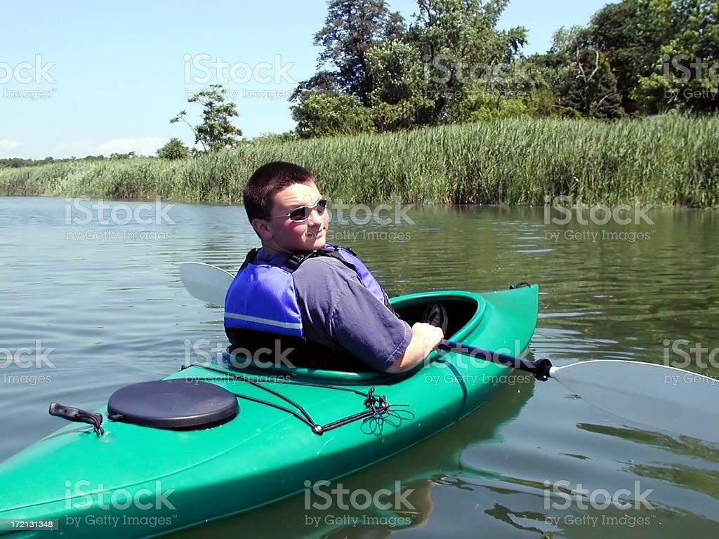 Fun Kayaking royalty-free stock photo