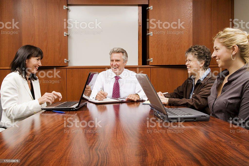Fun Meeting royalty-free stock photo