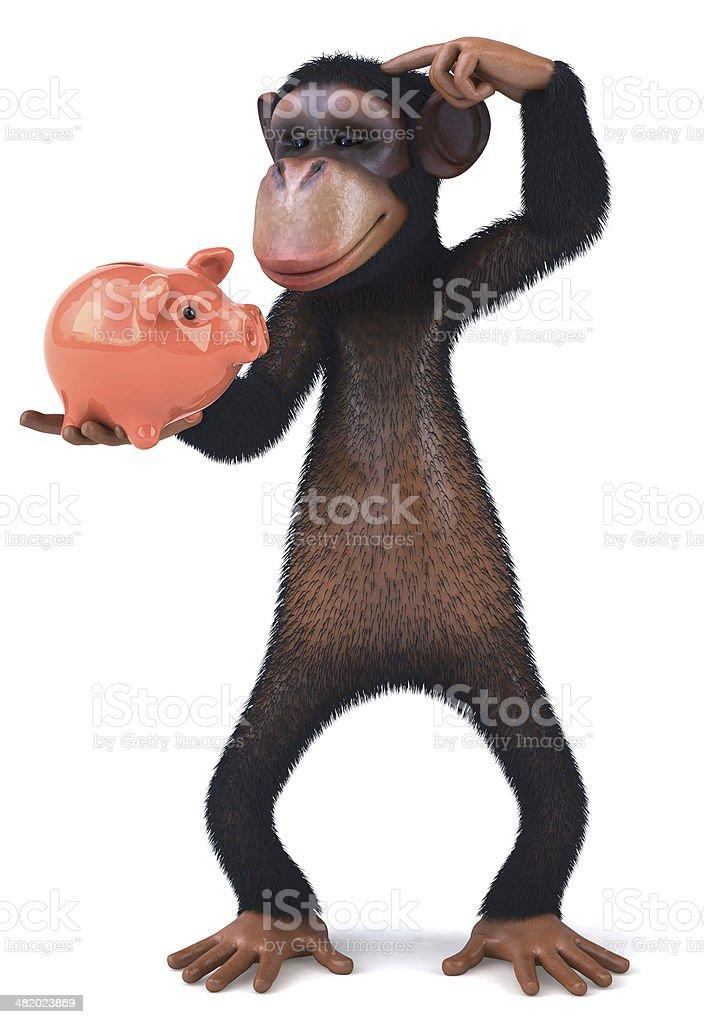 Fun monkey royalty-free stock photo