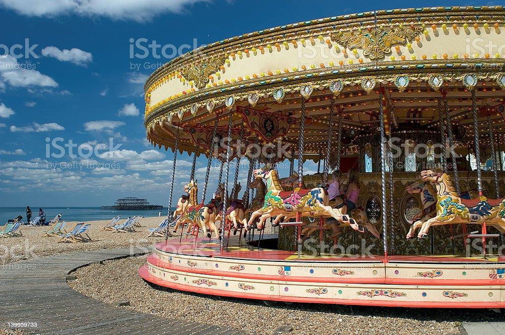 Fun on Brighton Beach stock photo