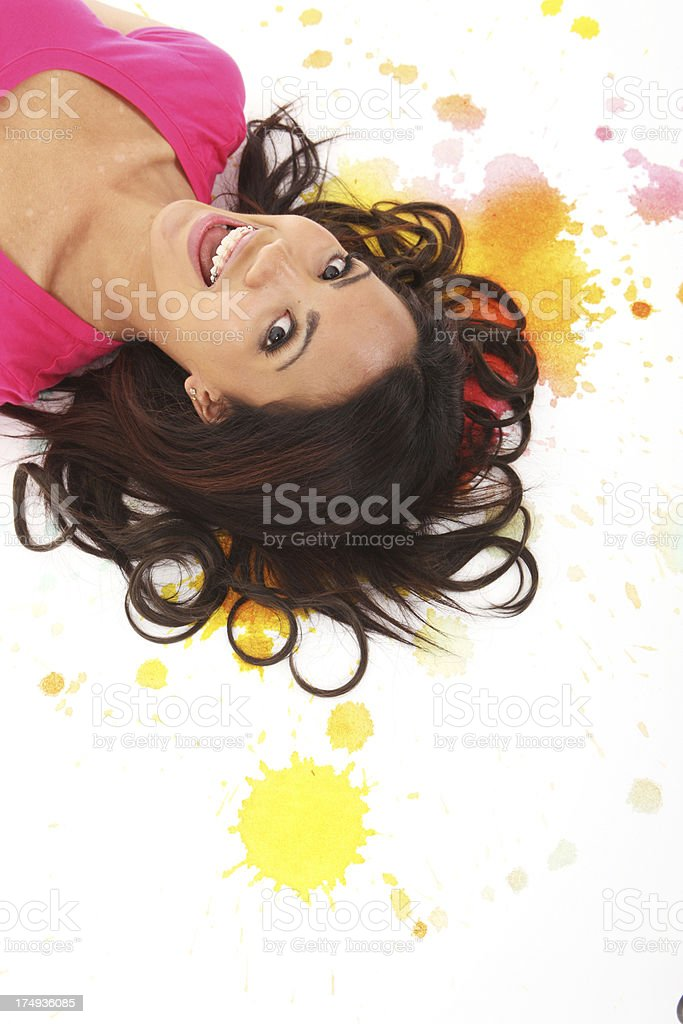 Fun on Paint royalty-free stock photo