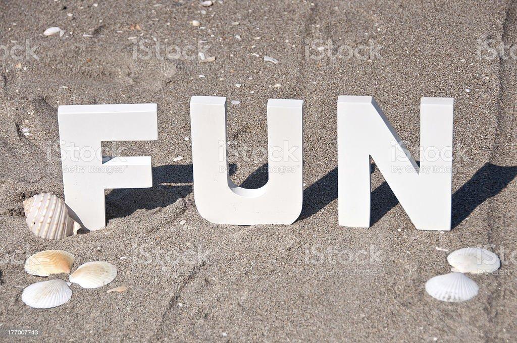 Diversión en la playa foto de stock libre de derechos