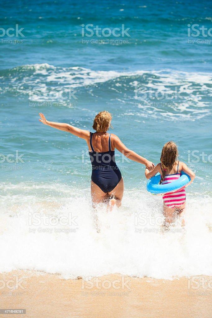 Fun on the beach stock photo